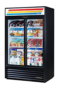 "True GDM-41-HC-LD Sliding Glass Door Merchandiser Refrigerator with Hydrocarbon Refrigerant and LED Lighting, Holds 33 Degree F to 38 Degree F, 78.625"" Height, 29.875"" Width, 47.125"" Length"