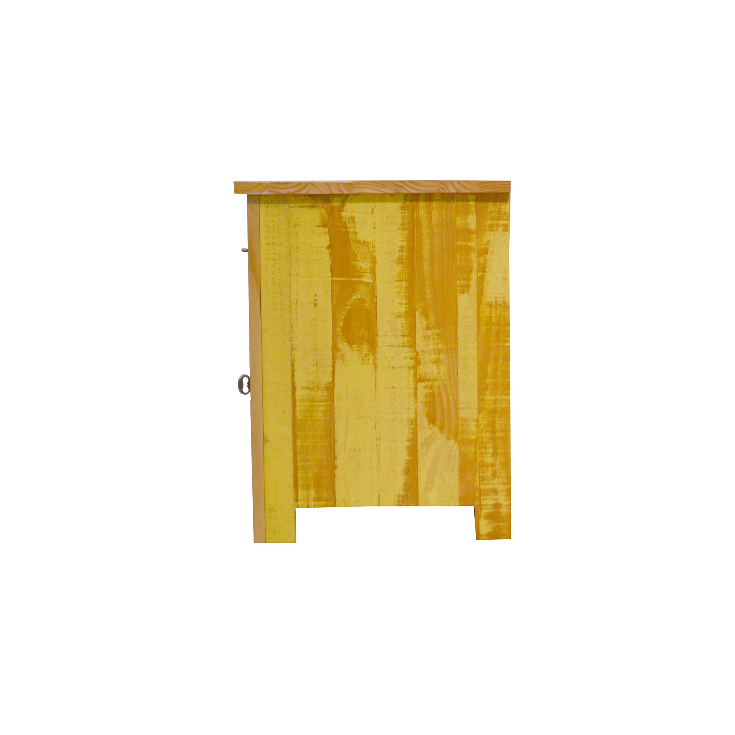 Reclaimed Accent Cabinet Solid Wood Distressed Color by The Beach House Design (Image #4)
