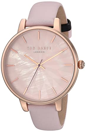 73432f8fb Ted Baker Womans Kate Pink Star Dial Rose Gold Case Pink Leather Strap  TE15200001: Amazon.co.uk: Watches