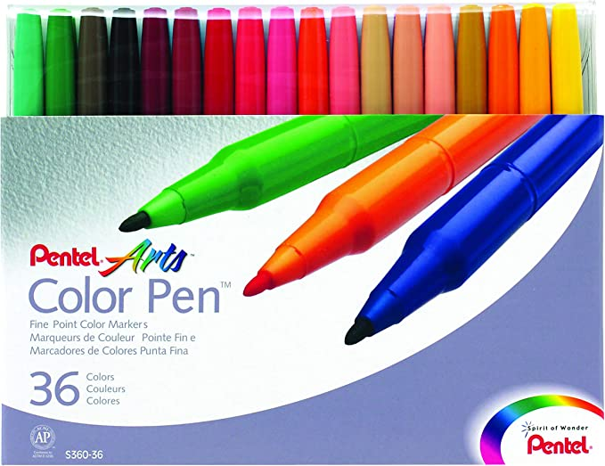 - 1 Each Pentel S360-116 Fine Pt Pale Orange Pentel Color Pen