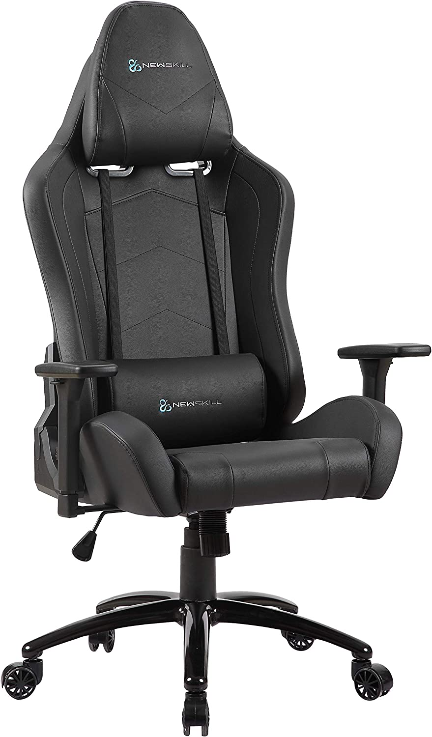 Newskill Takamikura - Silla gaming profesional (inclinación y altura regulable, reposabrazos ajustables, reclinable 180º), Color Negra