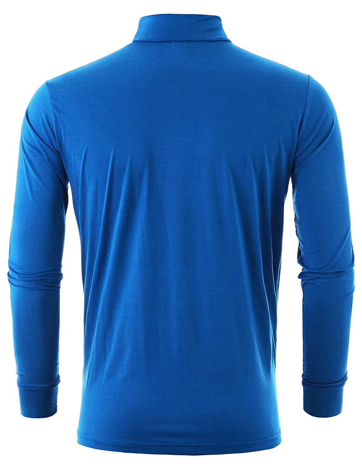 GIVON Mens Slim Fit Neck Cool Dry Long Sleeve Lightweight Compression Baselayer Crew Neck T-Shirts