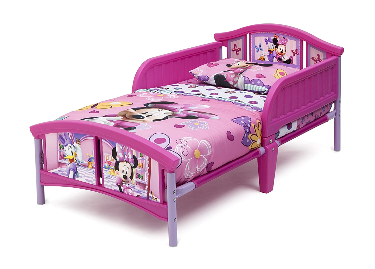 amazoncom delta children plastic toddler bed disney minnie mouse baby - Minnie Mouse Bed Frame