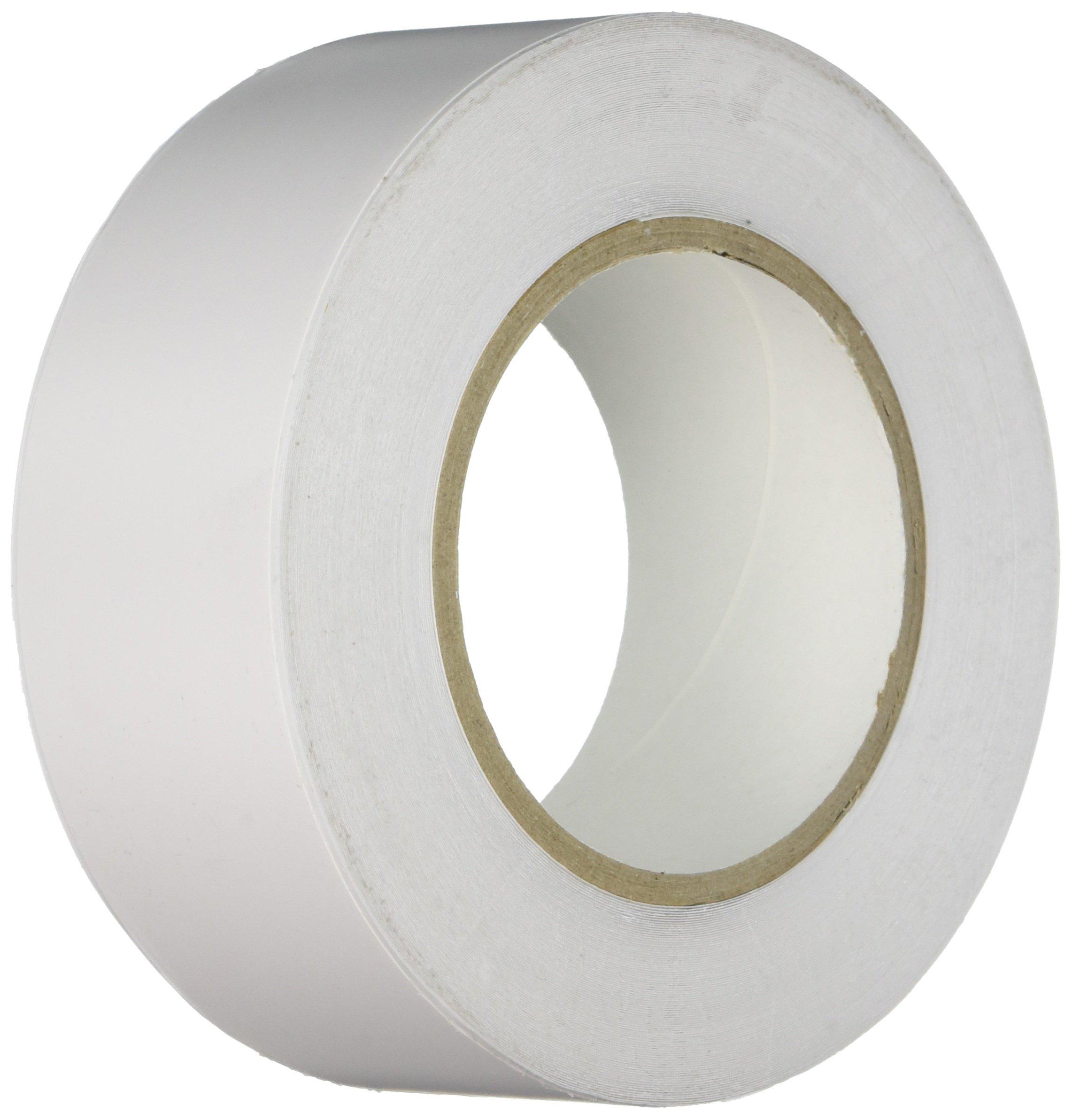 Heskins FLOOR2W White Tapeline Floor Marking Tape, 98' Length, 2'' Width