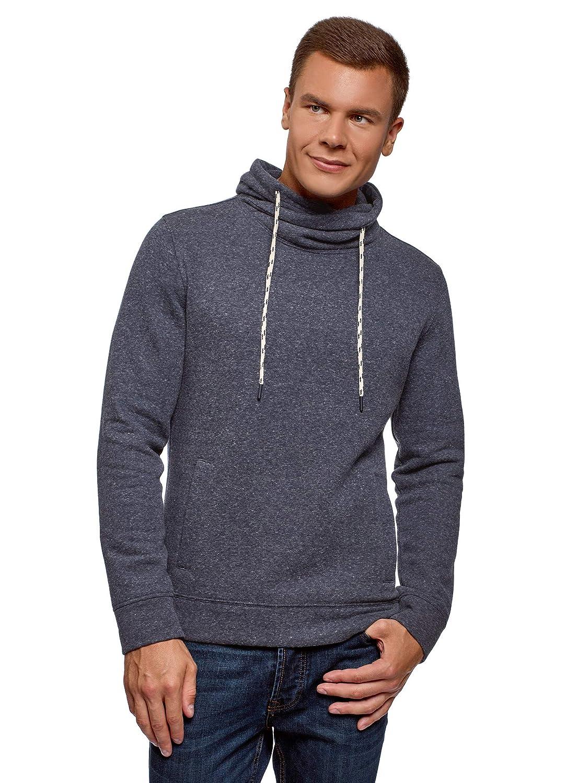 oodji Ultra Hombre Suéter Básico con Cuello de Chal