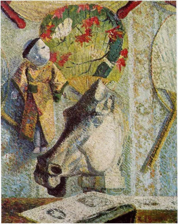 Paul Gauguin Naturaleza muerta con cabeza de caballo (1886) Póster artístico Pintura en lienzo Decoración para el hogar Póster de alta definición Sala de estar-24x32 pulgadas Sin marco