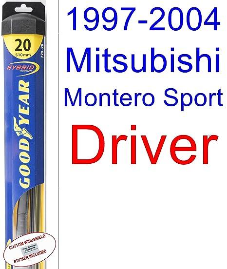 1997 – 2004 Mitsubishi Montero Sport de repuesto para limpiaparabrisas Set/Kit (Goodyear limpiaparabrisas