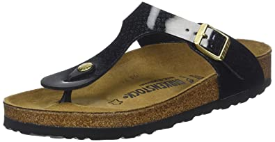 9565f758daba Image Unavailable. Image not available for. Colour  Birkenstock Unisex Gizeh  Birko-Flor Magic Snake Black ...