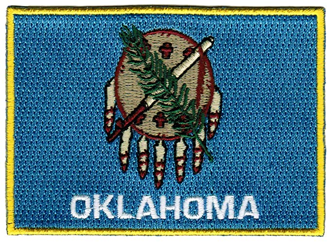 Oklahoma State Flag Embroidered Patch Iron On Ok Emblem At Amazon