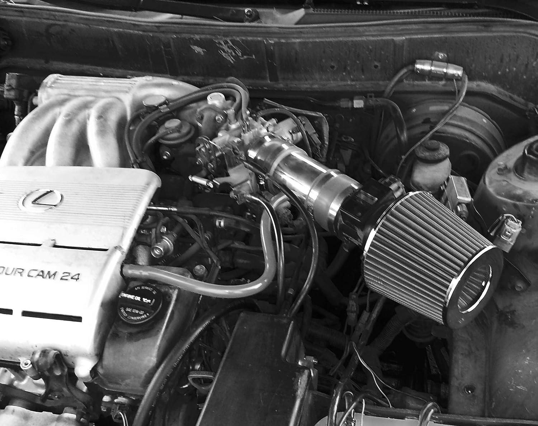 RED PERFORMANCE SHORT RAM AIR INTAKE KIT FOR 1994-1996 TOYOTA ...