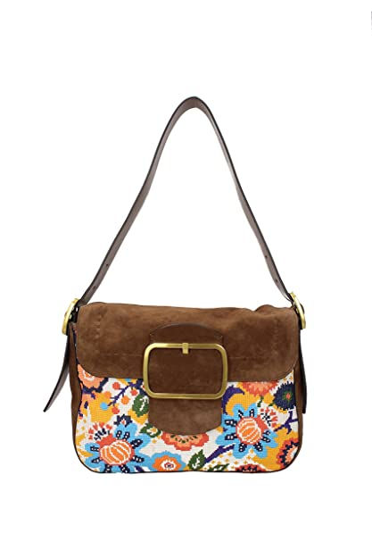 9148e90cf343 Tory Burch Sawyer Suede Shoulder Bag (Martora)  Amazon.in  Shoes ...