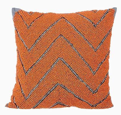 Amazon.com: Designer Orange Pillows Cover, Geometric Modern ...