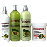 Toque Magico Emergencia Set 4 pack Avocado Shampoo , Rinse, Treatment, Leave-In