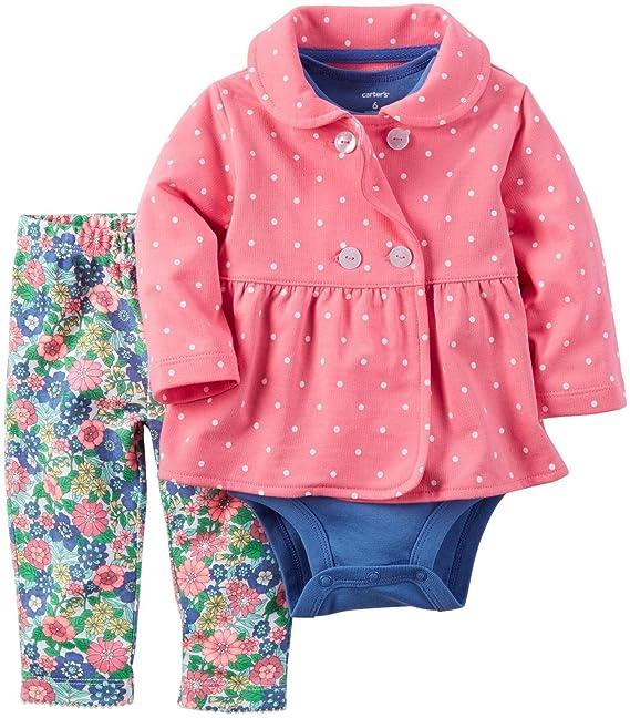 Carter s Baby 121h252 - Juego de Chaqueta de Punto para niña  Amazon ... 434b6368b1bc