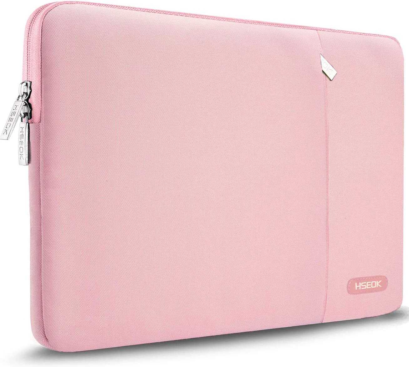 HSEOK 15-15.4 Inch Laptop Case Sleeve, Environmental-Friendly Spill-Resistant Laptop Case for New MacBook Pro 15.4-Inch A1707, XPS 15, Aspire R14 and More, Pink