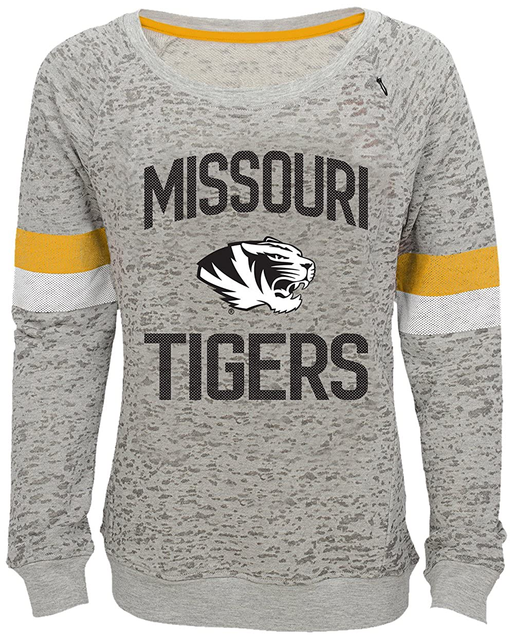 NCAA by Outerstuff NCAA Missouri Tigers Youth Girls My City Boat Neck Pullover 16 Youth X-Large Heather Grey
