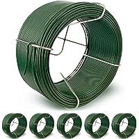 Amagabeli 50M X 1.15mm X 6 Stuks Tuindraad Coil PVC Gecoate Plantendraad WR8