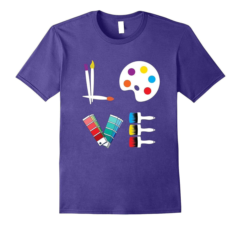 ART LOVE. Great Gift. TEACHER T-SHIRT Designer Artist Jersey-BN