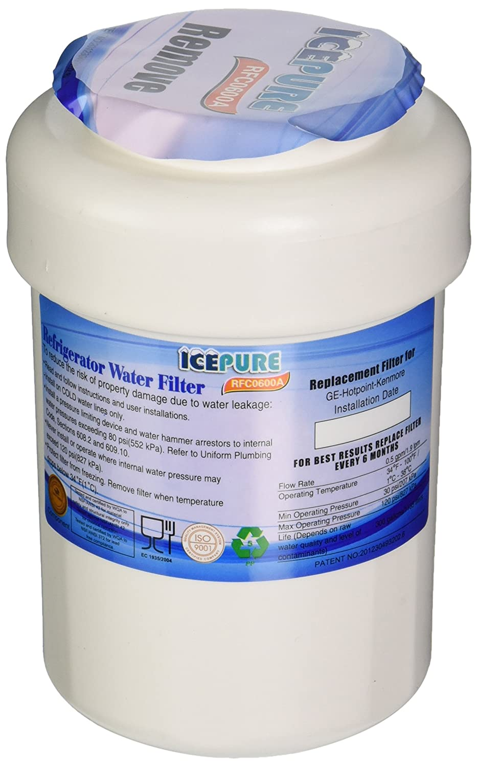 How To Replace Ge Water Filter Amazoncom Icepure Rwf0600a 3pk Water Filter To Replace Sears