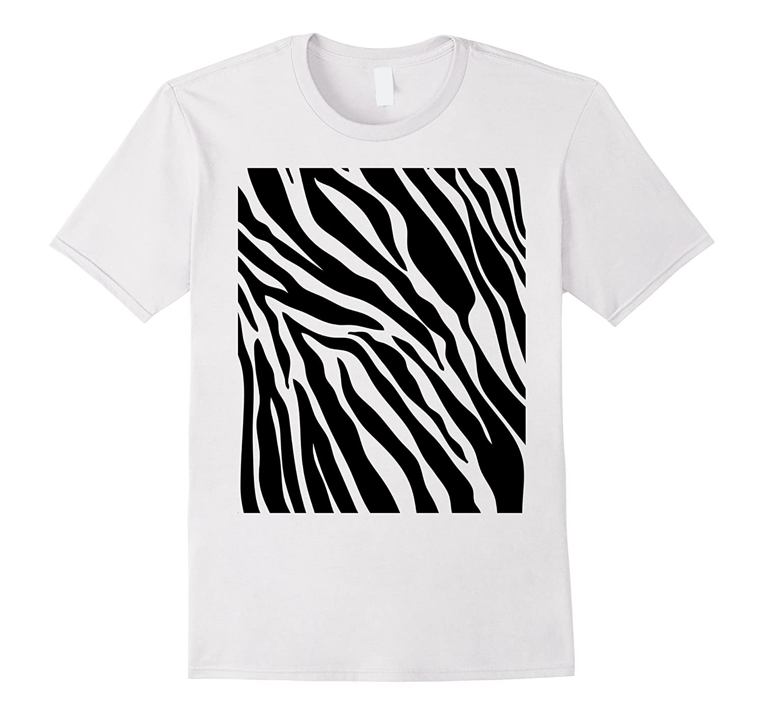 Zebra Print Shirt, Simple Halloween Costume Idea Gift-TH