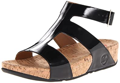 9436476231a66 Fit Flop Women s Arena Patent Gladiator Sandal