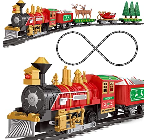 Train Set with Lights and Sounds Railway Tracks Sets Battery Operated Engine