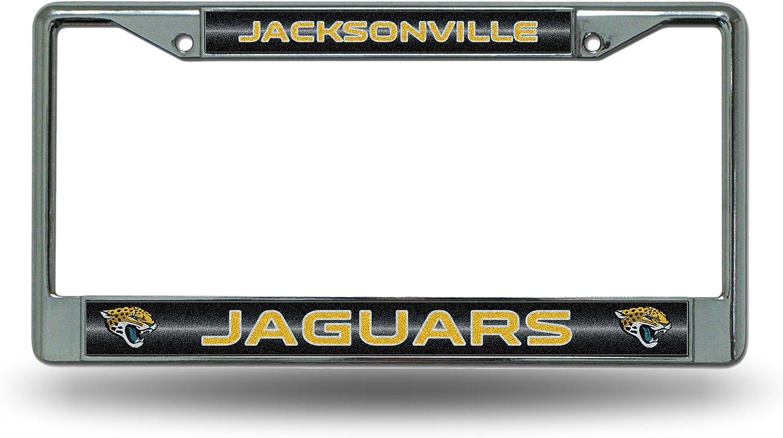 Rico Jacksonville Jaguars NFL Chrome Metal License Plate Frame