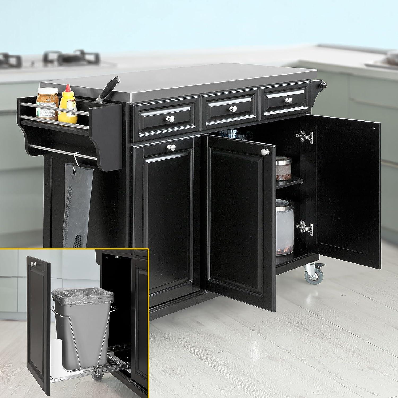 desserte cuisine noire desserte de cuisine claude noire l 54 x l 48 x h 87 5 cm achat vente. Black Bedroom Furniture Sets. Home Design Ideas
