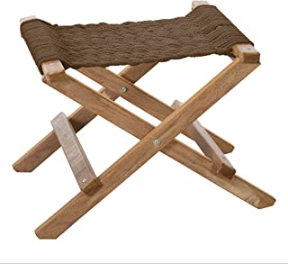 product image for Nags Head Hammocks Cumaru Folding Rope Footstool, Mocha DuraCord