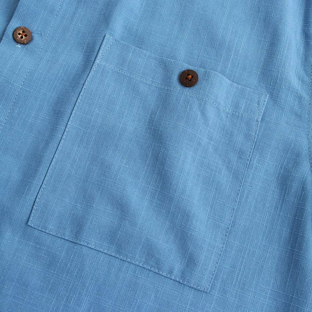 Sharemen Mens Casual Oxford Short Sleeve Shirt-Regular Fit Dress Shirt with Chest Pocket
