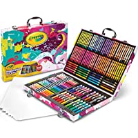 Crayola Inspiration Art Case Coloring Set, Gift for Kids Age 5+, Pink, 140 Count