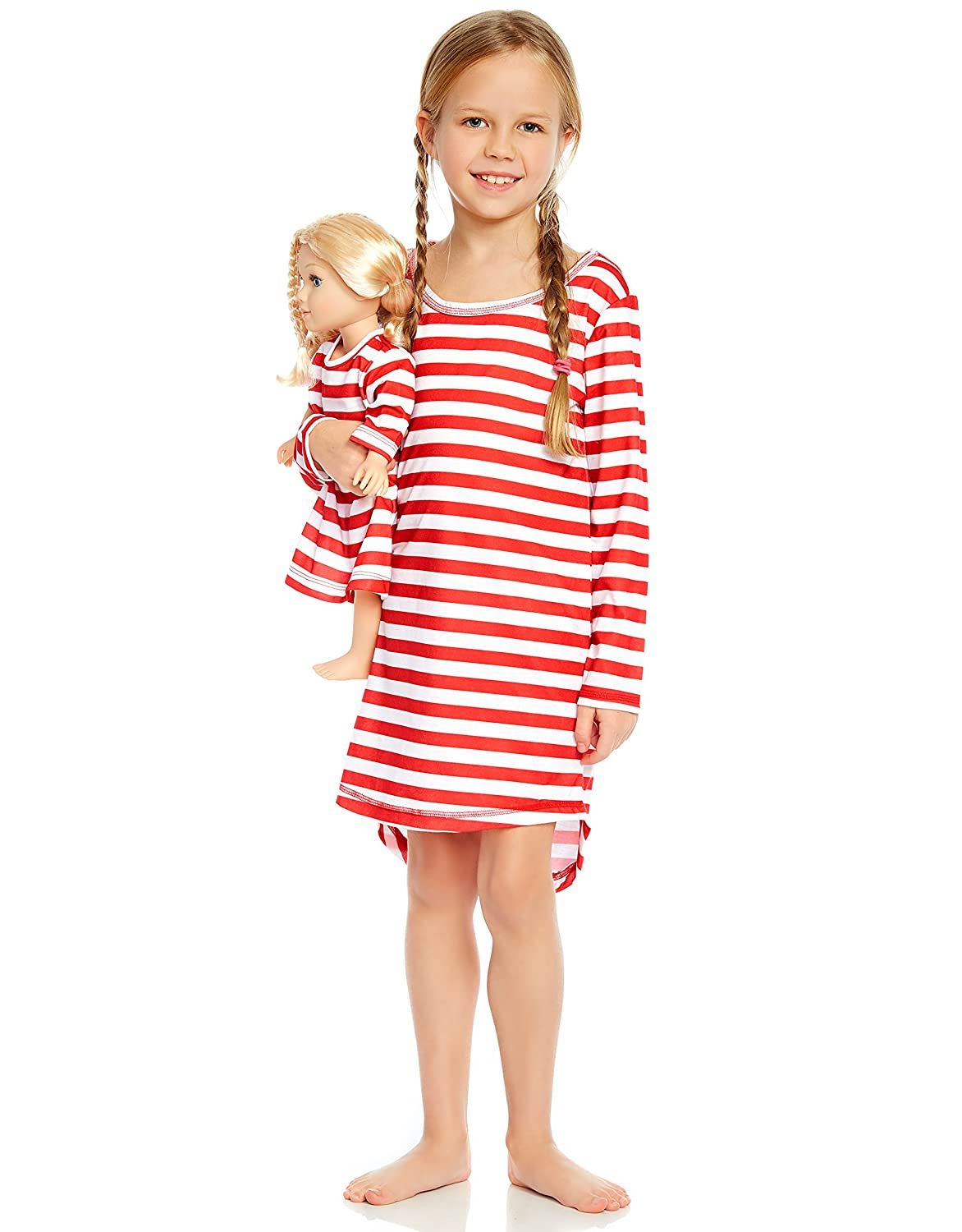 Leveret Matching Girl & Doll Sleep Nightgown (Size 4-14 Years)