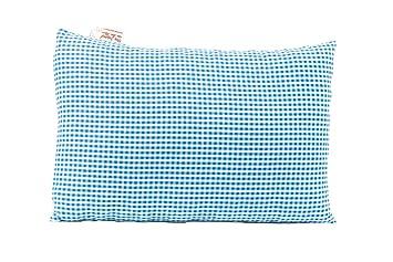 handgemachter Polster aus hochwertigen Zirben Tiroler Zirbenkissen 25x18 cm blau kariert