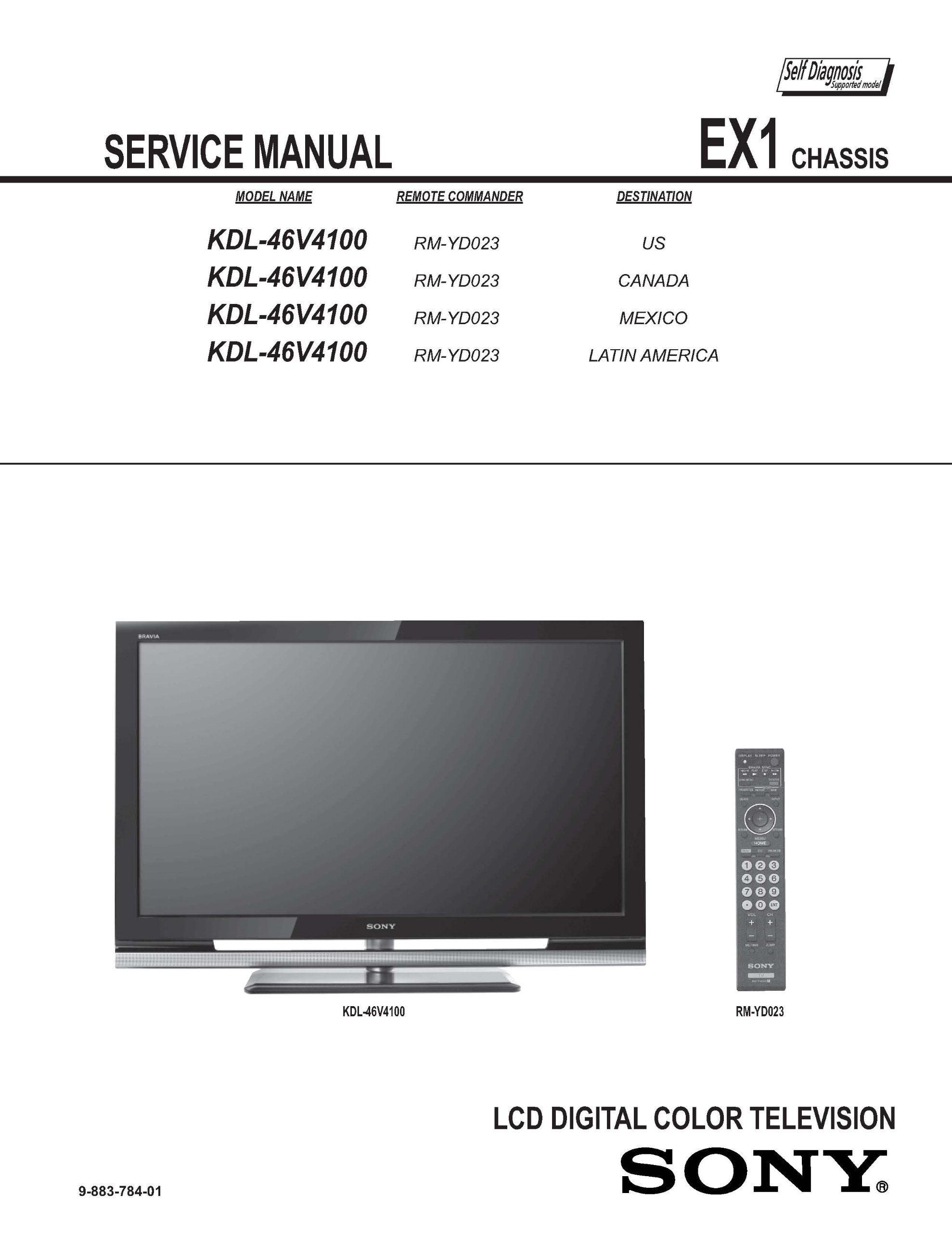 sony kdl46v4100 kdl 46v4100 service manual sony amazon com books rh amazon com Sony LCD TV Sony KDL 46V4100 Manual