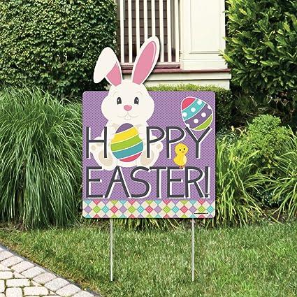 Amazon Com Big Dot Of Happiness Hippity Hoppity Easter Bunny