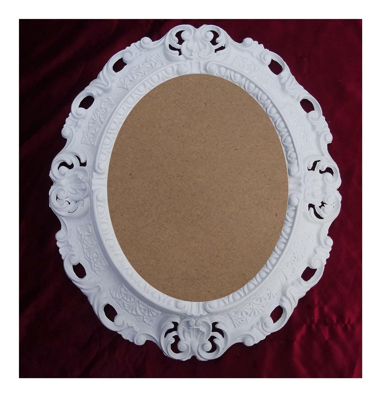Lnxp BILDERRAHMEN Antik Barock in der Farbe: Weiß 45x38 cm Oval ...