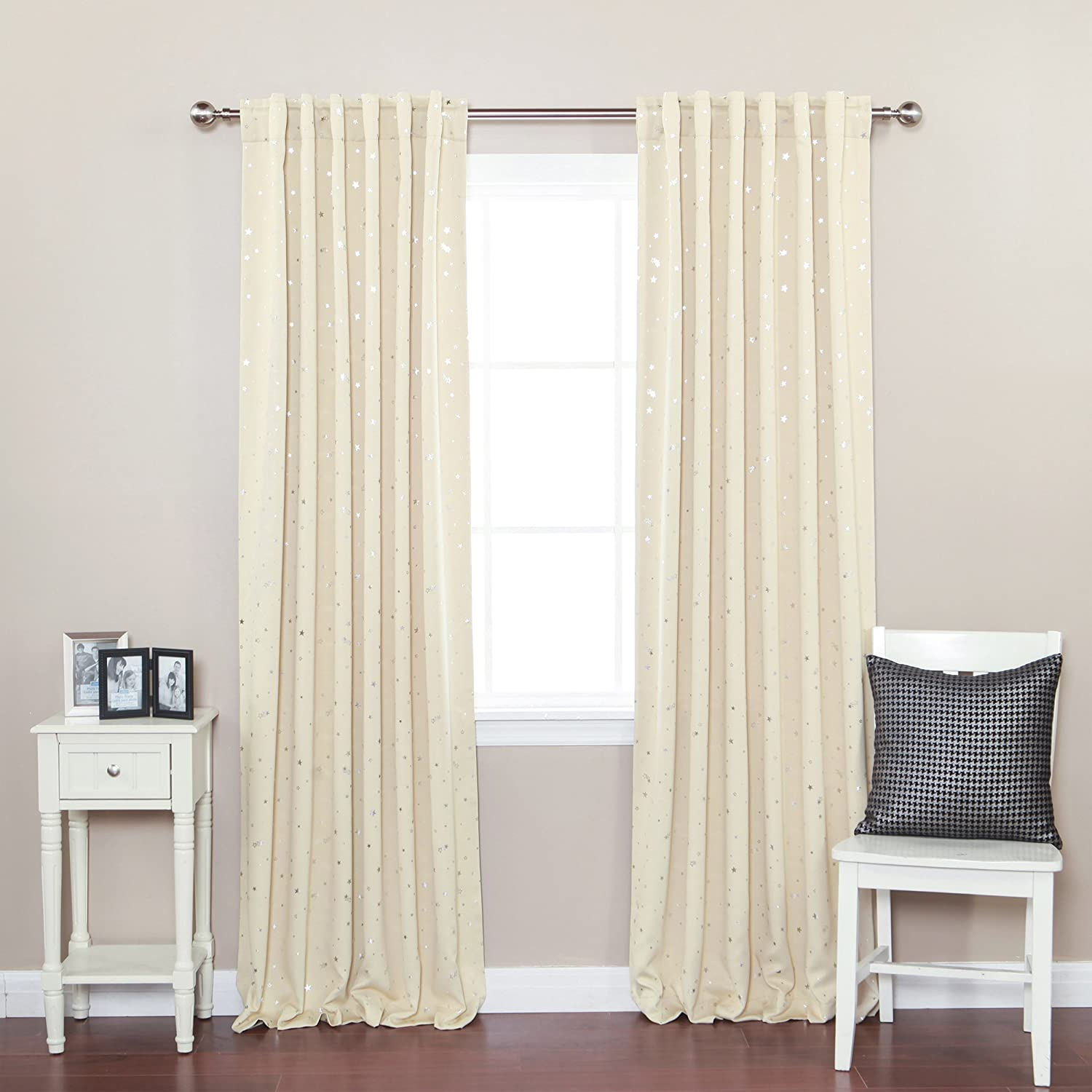 Amazon Best Home Fashion Star Print Thermal Insulated Blackout Curtains