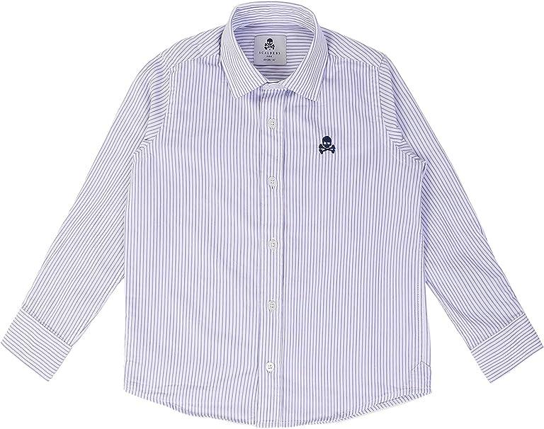 Scalpers Siena Shirt Kids - Camisa para niño, Talla 8, Color Rayas Azules: Amazon.es: Ropa y accesorios