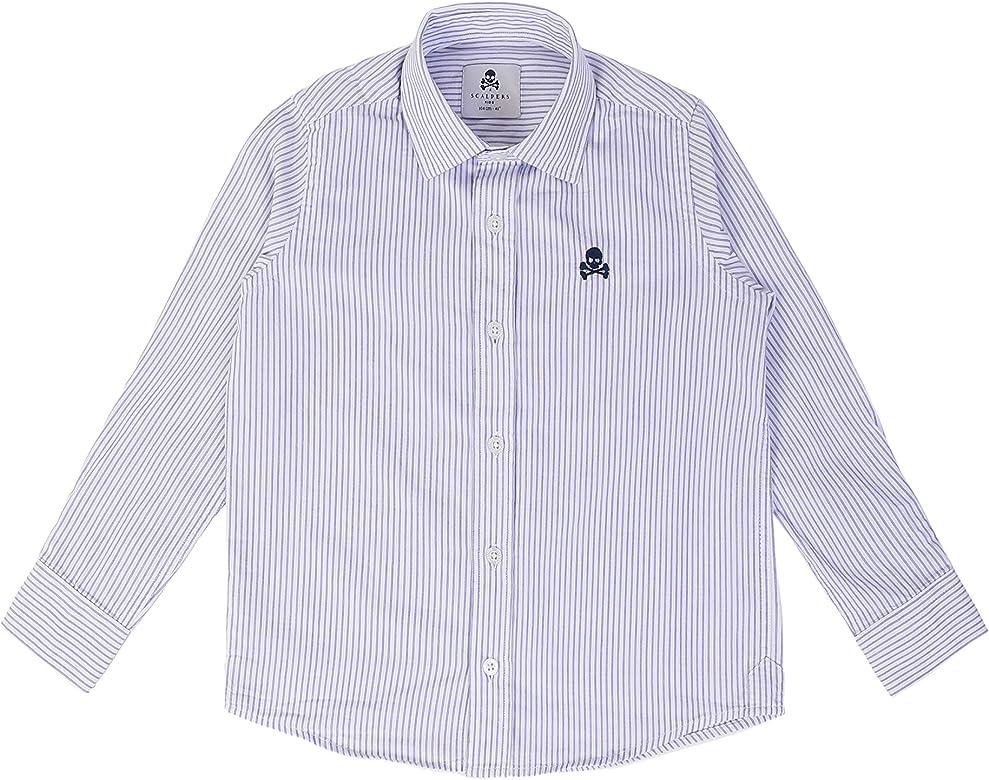 Scalpers Siena Shirt Kids - Camisa para niño, Talla 10, Color Rayas Azules: Amazon.es: Ropa y accesorios