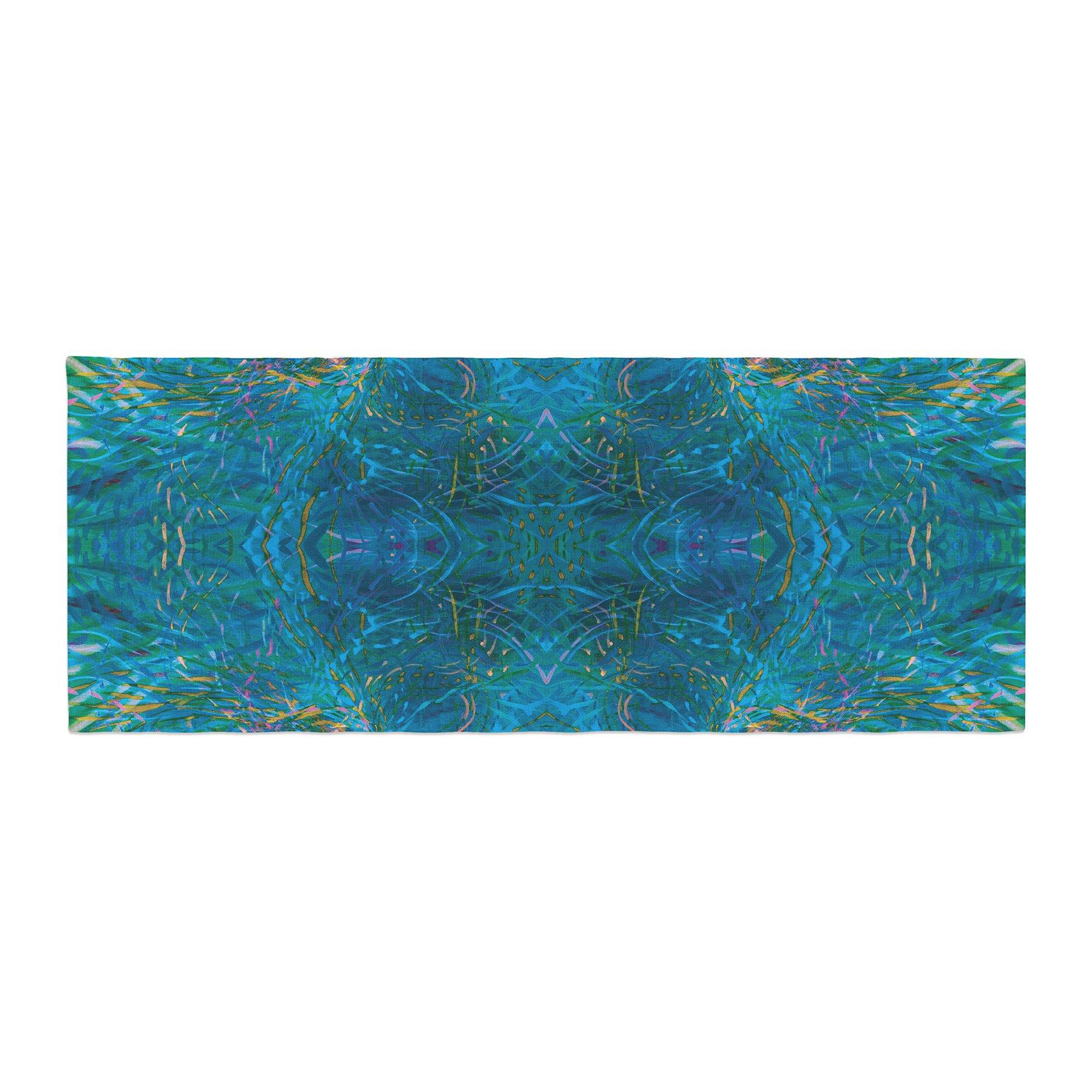 Kess InHouse Nikposium Clearwater Blue Teal Bed Runner, 34'' x 86''