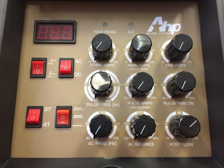 Ahp Alphatig 200x 200 Amp Igbt Ac Dc Tig Stick Welder With Pulse Welding Machine Circuit Board On Diagram 110v And 200v Power Welders