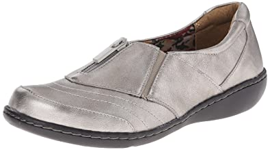 Soft Style by Hush Puppies Women's Jennica Loafers, Dark Pewter Leather -  6.5 C/
