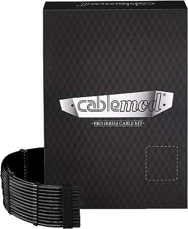 Imagen deCableMod CM-PRTS-FKIT-NKK-R Pro ModMesh RT-Series - Kit de Cables para ASUS Rog/Seasonic, Color Negro