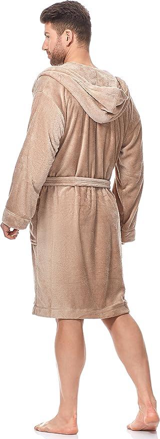 L/&L Robe de Chambre /à Capuche Veste dInt/érieur Homme LL0067
