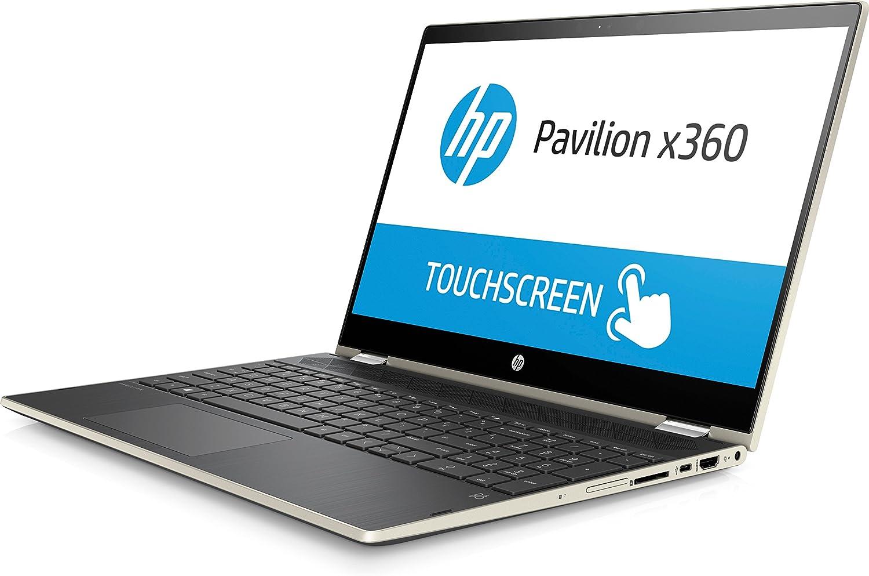HP Pavilion 15-cr0053wm X360 Touch Convertible Laptop, Intel Core i5-8250U Processor; 4GB SDRAM Memory, 16GB Intel Optane Memory, 1TB Hard Drive, Pale ...