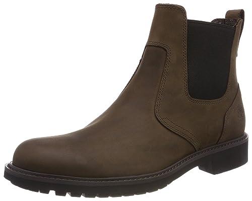 55b46e6039cc15 Timberland Herren Stormbucks Pull-On Chelsea Boots Braun (Burnished Dark  Brown Oiled) 39.5