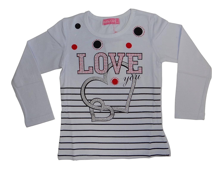 Palleon Fille T-Shirt /à Manches Longues