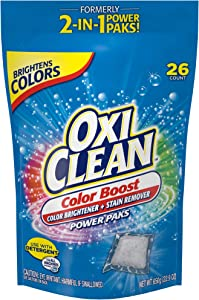 OxiClean Color Boost Color Brightener plus Stain Remover Power Paks, 26 Count