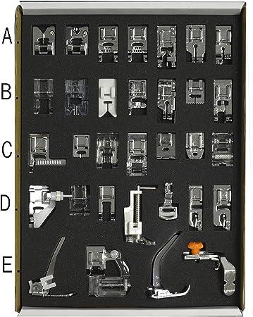 1set 32 piezas prensatelas pies para Brother de coser para máquina ...