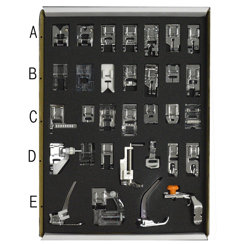 32pcs Low Shank sistema cucito macchina Presser piedi insieme elemento Servizi strumento Sundries casa casalinghi accessorio Gosear
